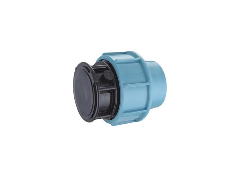 sistema de riego de agua accesorios de compresión pp enchufe de plástico